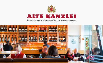 Alte Kanzlei - Tradition ist das Eine... Im Jahr 1544 befand sich hier die Landschreiberei mit Registratur und Buchhaltung, die Hofkammer und die Vorratskammer für das benachbarte Alte Schloss der Württemberger. Heute werden Sie in diesen Räumen kulinarisch verwöhnt.