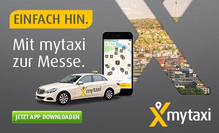 mytaxi - Einfach Hin. - Mit mytaxi zur Messe - Jetzt App Downloaden